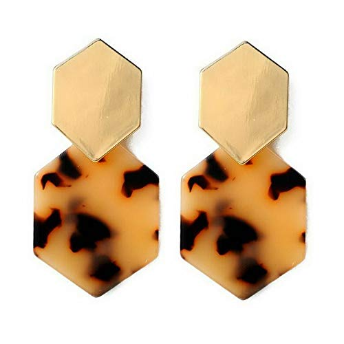 - Wausa 1Pair Acrylic Marbled Leopard Stud Earrings Fashion Tortoise Shell Print Jewelry | Model ERRNGS - 9906 |