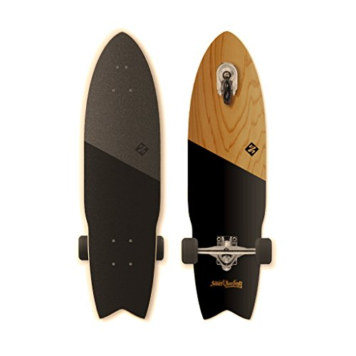 Street Surfing SHARK ATTACK Longboard Casterboard Surf Carving Cruiser 9.6 x 36