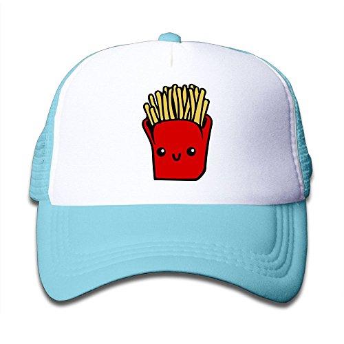 Aiw Wfdnn Cute French Fries Adjustable Mesh Baseball Caps Kids Trucker Hats Boy Girls - French Hood Hat