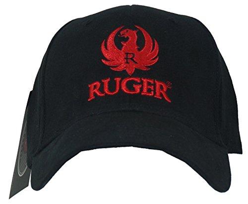 RUGER Men's 3D Logo Fitted Hat L/XL Black