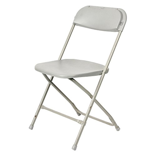 Commercial Seating Products MP-101-WH-H Poly Folding Chair ()