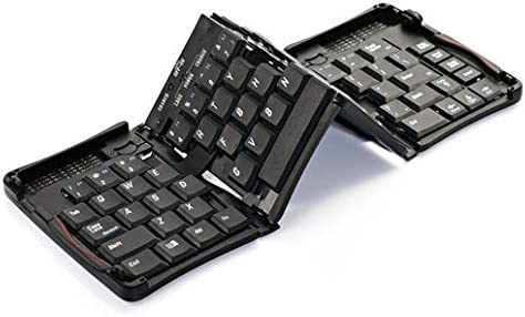 Aluminum Alloy HoMei Foldable Bluetooth Keyboard Portable Mini Ultra-slim Wireless Keyboard Built-in Rechargeable Li-Polymer Battery For IOS Android Windows