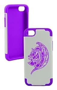 Mavricks Plastic & Silicone Purple Case for Iphone 5c