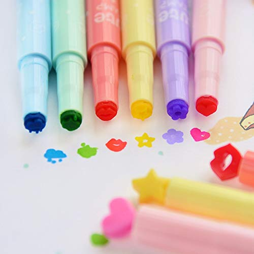 Go Cart Go 36 pcs/Lot Cute Stamp Highlighter Marker Pen for Reading DIY Scrapbooking Stationery Material escolar by Go Cart Go (Image #4)