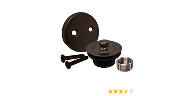 Oil Rubbed Bronze All Brass Construction Lift and Turn Twist Bathtub Tub Drain Conversion Kit Assembly