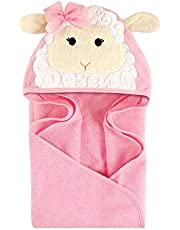 Hudson Baby Cotton Animal Face Hooded Towel
