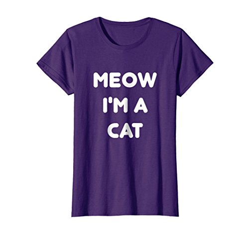 Womens Meow Cat Halloween Costume Shirt Large