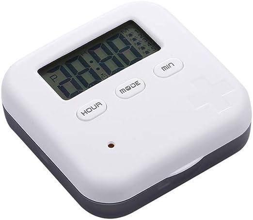 GYUE Caja de Pastillas electrónica Reloj Despertador de Cuatro ...