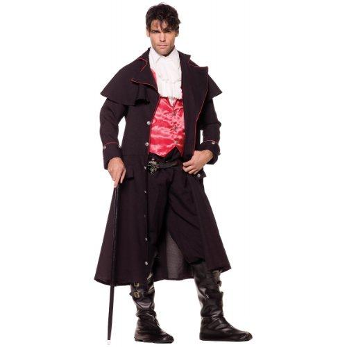Underwraps Costumes Men's Vampire Costume - Count, Black/Red/White,