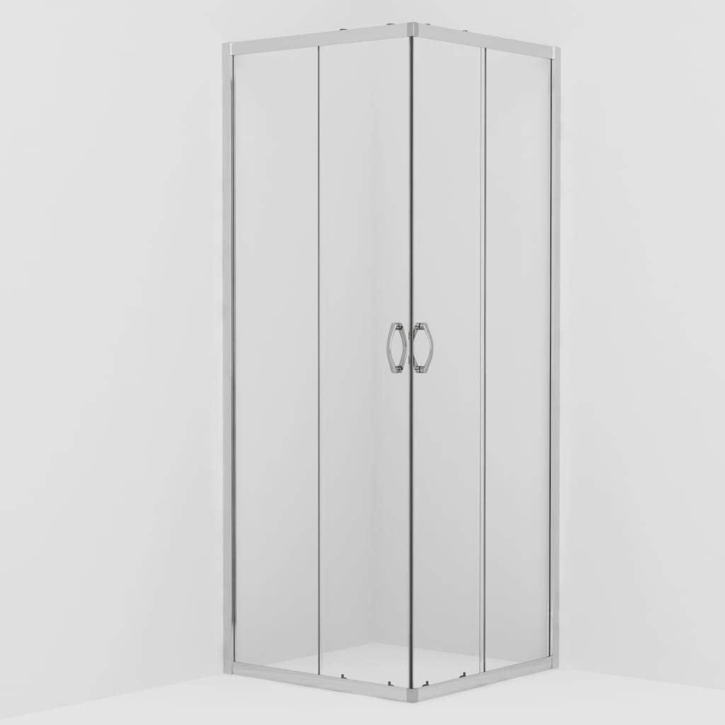 vidaXL Mampara de Ducha con Vidrio de Seguridad Ba/ño Fregadero Fontaner/ía Bricolaje Instalaci/ón Decoraci/ón Grifer/ía Sanitario Ba/ñera 80x70x185 cm
