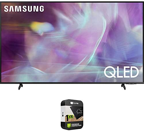 Samsung QN70Q60AA 70 Inch QLED 4K Smart TV (2021) Bundle with Premium 1 Year Extended Protection Plan