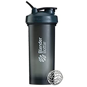 BlenderBottle Pro45 Extra Large Shaker Bottle, Grey/White, 45-Ounce
