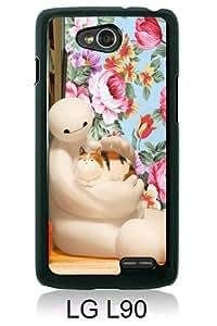 LG L90 Screen Case ,Big Hero 6 Bayma 6 Black LG L90 Cover Fashion And Unique Designed Phone Case