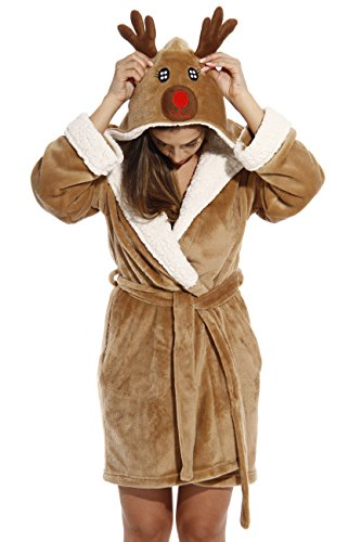 Just Love 6366-Reindeer-S Critter Robe/Robes for Women ()