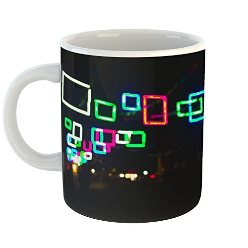 Westlake Art - Neon Sign - 15oz Coffee Cup Mug - Modern Picture Photography Artwork Home Office Birthday Gift - 15 Ounce (Clock Awesome Neon)