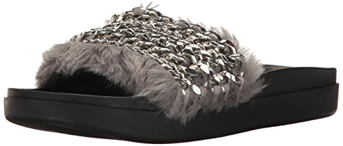 KENDALL + KYLIE Women's Sammy Slide Sandal, Grey, 8 Medium US