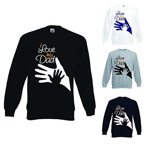 Nero Idea Unisex I Dad Per My Regalo Felpa Il Print Love Papa' tBHPw