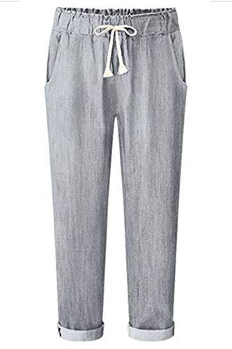 Donne Le Grey Pantaloni Casual Zinmuwa Affusolato I Cordoncino PA4vqc