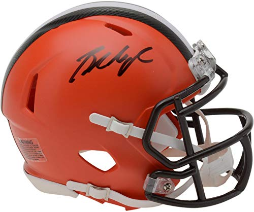 Baker Mayfield Cleveland Browns Autographed Riddell Speed Mini Helmet - Fanatics Authentic Certified ()