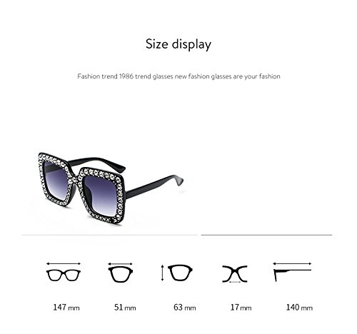49a9c7a84ef Amazon.com  Prime Sale Day Deals Week 2018-Sunglasses Women Oversized  Square Crystal Diamond  Clothing