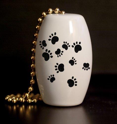 Paw Prints Porcelain Fan / Light