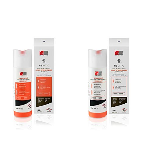 Revita High Performance Hair Stimulating Shampoo & Conditioner Bundle - Hair Growth Formula (205ml)