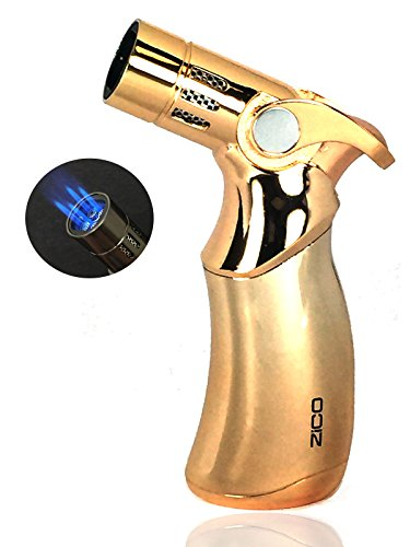 - Zico Torch Quad Jet Flame Butane Torch Cigar Lighter 4 colors available (Gold)