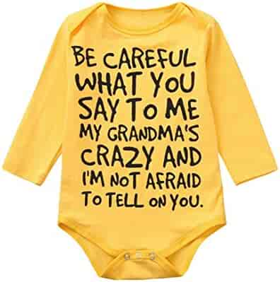 17713157fb8 Kehen Infant Newborn Baby Girls Boys Solid Letter Print Long Sleeve Cotton  Romper Bodysuit Autumn Winter