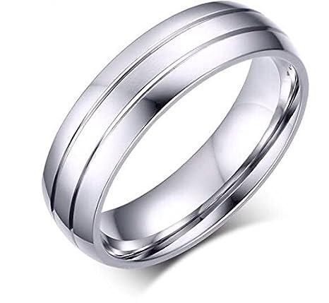 meaeguet moda anillos diseño Simple los hombres de acero inoxidable anillos de boda EE. UU. Tamaño 6 - 13: Amazon.es: Juguetes y juegos
