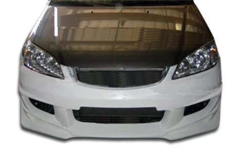 Duraflex ED-LZZ-446 Bomber Front Bumper Cover - 1 Piece Body Kit - Compatible For Honda Civic 2004-2005