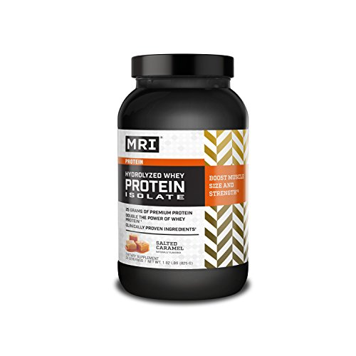 MRI Performance Hydrolyzed Whey Protein Isolate, Post-Workout Powder, Salted Caramel Flavor, 825 Grams
