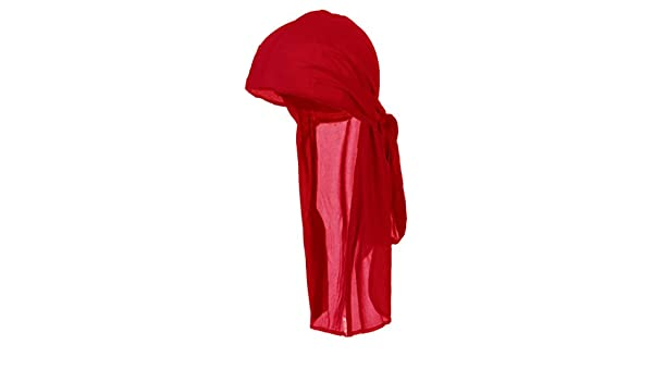 3775cd1b586a08 Amazon.com: RED Durag Do Rag Stocking Cap Short Hair Waves Sleeping Nylon  Wrap Ties: Everything Else