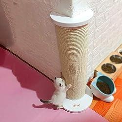 LOVEPET Corner Cat Scratch Board, Cat Scratch Column, Sofá de Madera Maciza de protección, Garras de Gato, Juguete para Mascotas, 50 cm