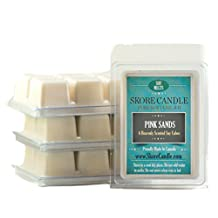 Pink Sands 3-Pack Scented Soy Melts from Skore Candle. 18 Cubes made with pure, natural soy wax. Wax warmer required. Infuse fragrance in your home now!