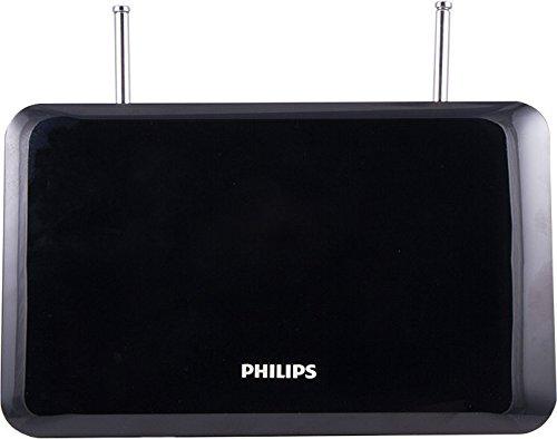 Philips | Flat Panel HD Passive TV Antenna - Slim Design Stand Dipoles - 4K Full HD 1080P - Indoor VHF/UHF / HDTV Antenna Rabbit Ears – 30 Mile Range- SDV1227B/27