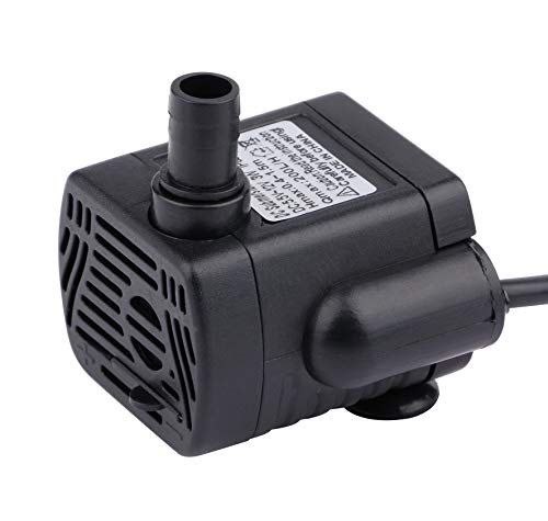 Portable Submersible Fountain Pump - Driew 200L/H Mini Submersible Water Pump, DC 5.5-12V Brushless Waterproof Pumps for Pond Aquarium with 4.5 Feet Cord