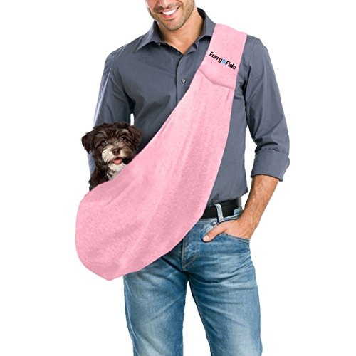 furryfido-reversible-pet-sling-carrier-for-cats-dogs-up-to-13-lbs-pink