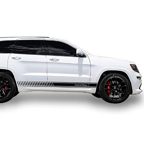 Bubbles Designs 2X Decal Sticker Vinyl Limited Edition Side Racing Stripes Compatible with Jeep Grand Cherokee WK2 SRT 8 2011-2016
