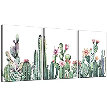 Canvas Wall Art for living room bathroom Wall Decor for bedroom kitchen artwork Canvas Prints green Succulent cactus painting 12