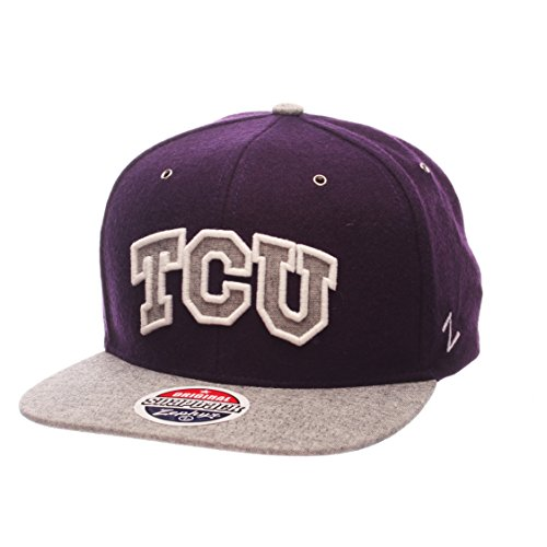 NCAA TCU Horned Frogs Adult Men's Executive Snapback Hat, Adjustable Size, Team - Horned Snapback