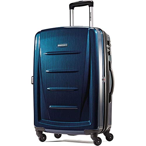 Samsonite Checked-Large, Deep Blue (Best Month To Travel To Hawaii)