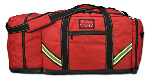 - Lightning X Firefighter Premium 3XL Step-In Turnout Gear Bag - Red w/NO LOGO (Customizable)