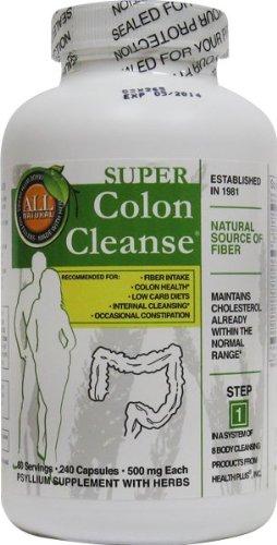 Health Plus Inc Super Colon Cleanse 500 mg 240 Capsules