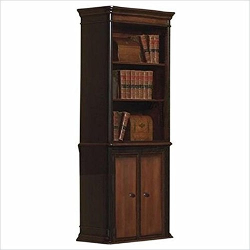 Coaster Home Furnishings Gorman 3-Tier Bookcase with Lower Cabinet Doors Espresso and Chestnut