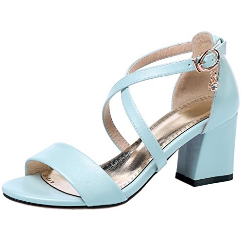 Femmes blue Sandales 1 Hauts Talons Zanpa Mode a8x8A