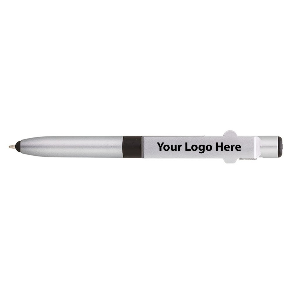 4-in-1 Fine Writing Instruments Engraved Pen / LED / Phone Stand / Stylus - 250 Quantity - $1.85 Each - PROMOTIONAL PRODUCT / BULK / BRANDED with YOUR LOGO / CUSTOMIZED