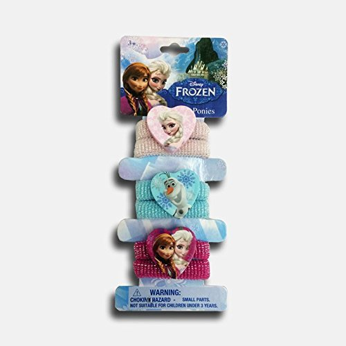 Amazon.com : Disney Frozen Terry Hair Ponies 6 Pack (Elsa, Olaf and Elsa and Anna Sister Bond) : Beauty