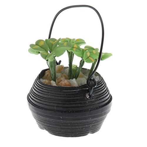 Perfk プラスチック製 鉢植えモデル 1:12スケール ドールハウス ミニチュア 装飾品の商品画像