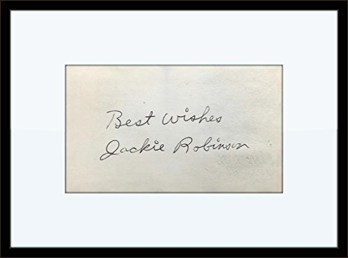 Framed Jackie Robinson Authentic Autograph with Certificate of -