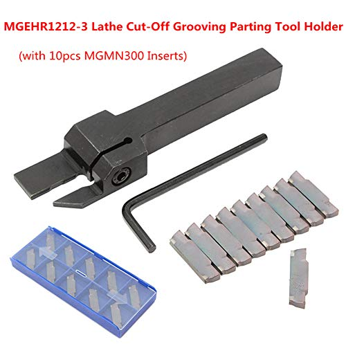 Trkee MGEHR1212-3 Grooving Parting Cutter Tool Holder with 10 MGMN300 3mm Inserts